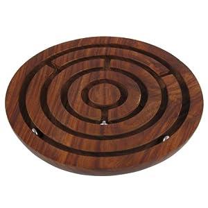 Casse t te bille dans labyrinthe en bois jeu de for Bille en tete alexandre jardin