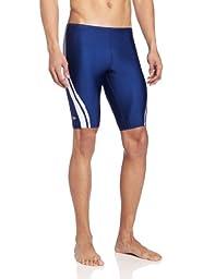 Speedo Men's Quantum Splice Jammer Swimsuit, Navy/White, 30