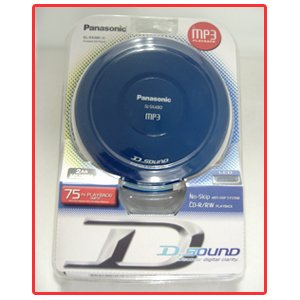 Panasonic SL-SX480 D.Sound Portable CD Player with MP3 Playback in Blue