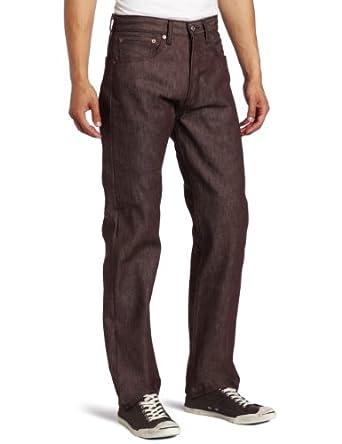 Levi's Men's 501 Shrink To Fit Straight Leg Jean, New Brown Rigid, 32x32