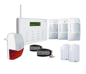 IDK AL-G09 Système d'alarme sans fil Multizones RTC/GSM Ecran tactile LCD