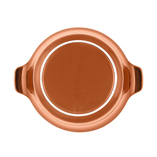 Anolon Vesta Stoneware 2-1/4-Quart Round Casserole, Persimmon Orange casserole set