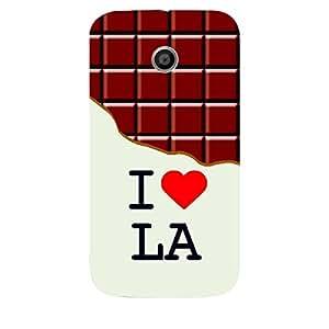 Skin4gadgets I love Los Angeles - LA - Chocolate Pattern Phone Skin for MOTO E 1ST G