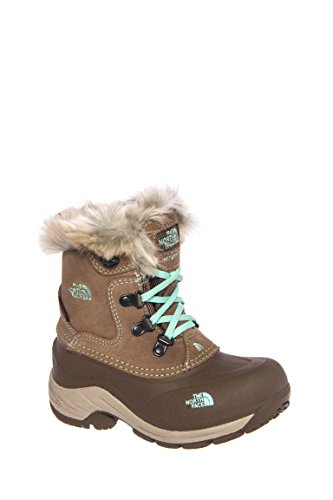 The North Face Girls' Mcmurdo Boot,Spun Brown/Surf Green,US 11 M
