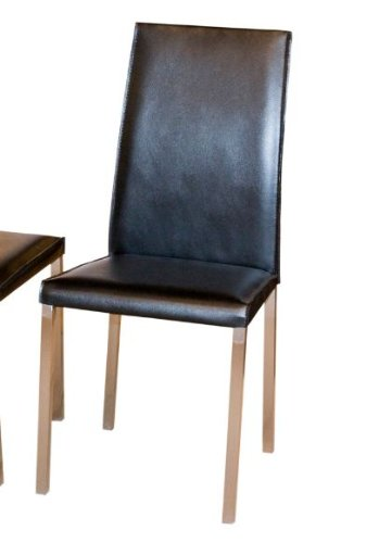 Buy low price diamond sofa bonded leather dining chairs for Leather dining chairs with metal legs