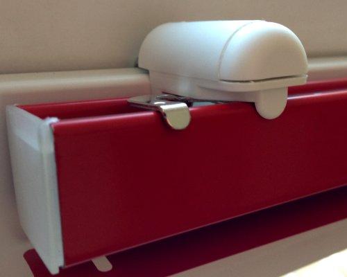 Blindfix - Klemmträger für Jalousien (2 Stück) - Montage ohne Bohren direkt auf dem Fensterflügel Ihres PVC-/Kunststofffensters