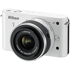 Nikon 1 J1 Mirrorless Digital Camera with 10-30 mm VR Zoom Lens (White) USA