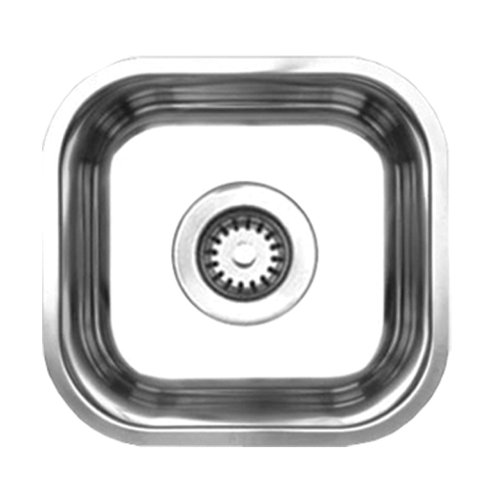 Whitehaus Noahs Collection Single Bowl Undermount Sink Brushed Stainless Steel Whnu1212