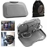Kozdiko 2Pcs Car Grey Meal Tray Dining For Honda Amaze