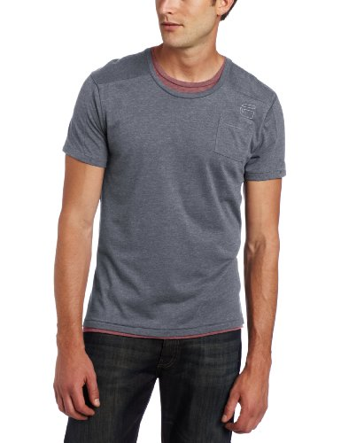 G-Star raw mens correct line parker short sleeve crew neck t-shirt in python XL