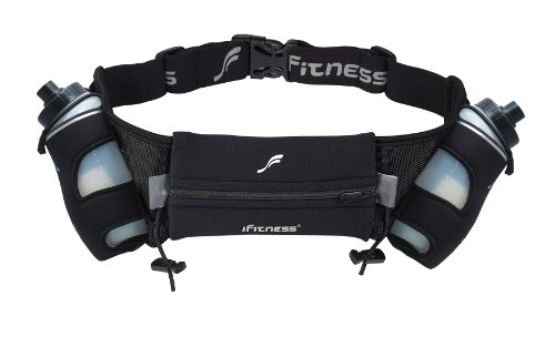 iFitness Inc iFitness Inc 16 Oz Hydration Belt, Black, Large/X-Large