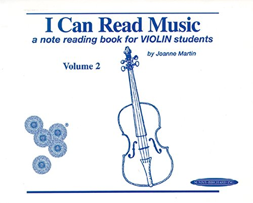 I Can Read Music, Vol 2: A Note Reading Book for Violin Students