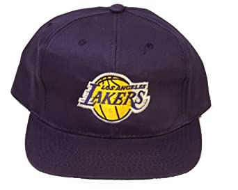 Los Angeles Lakers Snapback Adjustable Hat, Purple + GT Sweat Wristband by Team NBA