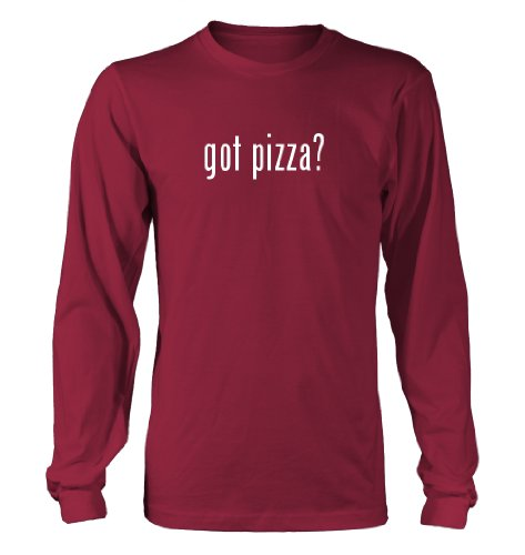 Got Pizza? Funny Adult Men'S Long Sleeve T-Shirt, Red, Xx-Large