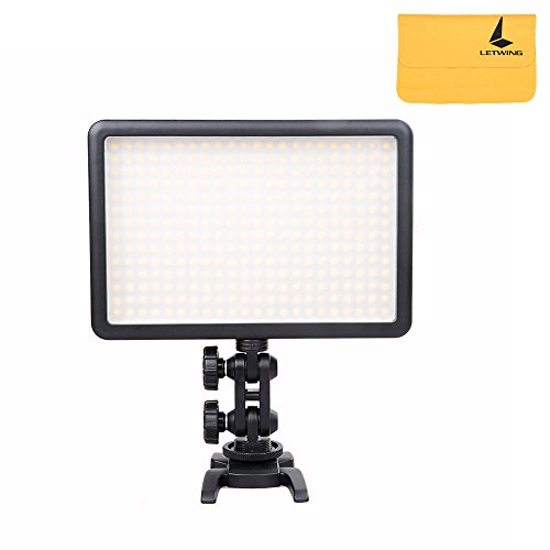 Godox LED308 Changeable Urtra Bright Continuous On Camera Led Panal Light Lighting,Portable Dimmable Photography Photo Studio Led Lighting for Canon