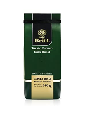 Cafe Britt Costa Rica Dark Roast Ground Coffee, 12-Ounce Bag by Cafe Britt