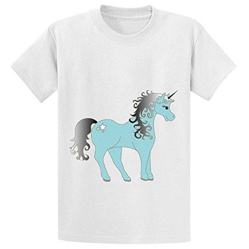 Mcol Unicorn Prince Unisex Crew Neck Short Sleeve T-shirt White