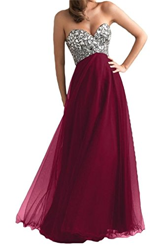 DLFASHION-Womens-Strapless-Empire-Tulle-Long-Prom-Dress