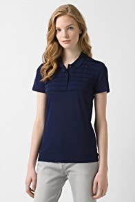 Short Sleeve Ultra Fine Pique Pleated Polo