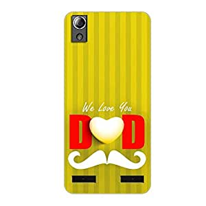 Vibhar printed case back cover for Lenovo A6000 Plus DADLines