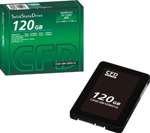 シー・エフ・デー販売 2.5inch SSD SandForce SF1200seriesコントローラー搭載 120GB  3.5inch変換マウンタ付属 CSSD-SM120NS1Q
