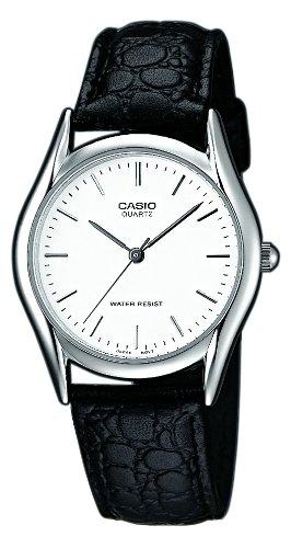 Casio MTP-1154E-7AEF - Reloj analógico de cuarzo para hombre con correa de piel, color negro