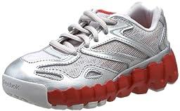 Reebok Mini Zig Sonic Running Shoe (Toddler),Steel/Pure Silver/Red,4 M US Toddler