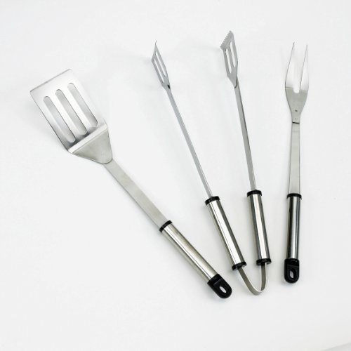 Landmann 0204 Stainless Steel Stainless Steel Barbecue Tool Set (3 Pieces)