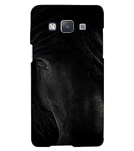 PrintVisa Black Beauty Horse Animal Design 3D Hard Polycarbonate Designer Back Case Cover for Samsung Galaxy A5