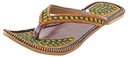 Rajasthani Slipper FLAT Girls Multi-Coloured Gore-Tex Casual Slippers - 8 UK
