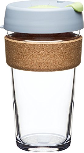 KeepCup Brew Glass Reusable Coffee Cup, 16 oz, Day Lily (Microwaveable Tea Cup compare prices)