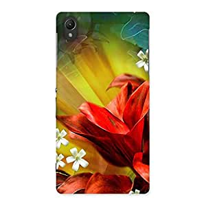 Beautiful Flowers Design Back Case Cover for Sony Xperia Z2
