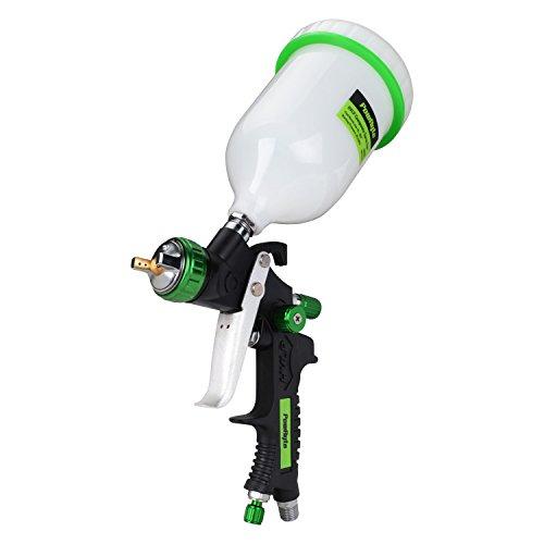 PowRyte 500029 Elite 20 Oz Composite HVLP Gravity Feed Air Spray Gun - 1.4mm Nozzle (Gravity Flow Spray Gun compare prices)
