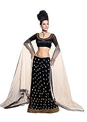 Viva N Diva Black Color Georgette Lehanga for Women.