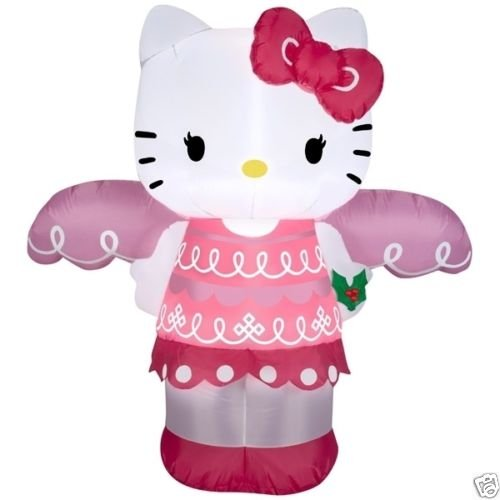 4ft Inflatable Airblown Hello Kitty Christmas Angel Indoor/Outoor Holiday Decoration