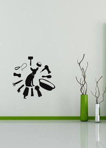 Housewares Wall Vinyl Decal Dog Accessories Pet Shop Grooming Salon Pets Animals Interior Home Art Decor Kids Nursery Removable Stylish Sticker Mural Unique Design For Any Room front-1008821