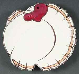 Amazon Com Pottery Barn Set Of 4 Gobble Turkey Plates 7