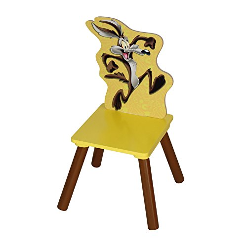 adorable looney tunes wile e coyote mdf and rubber chair for kids boys and girls perfect for. Black Bedroom Furniture Sets. Home Design Ideas