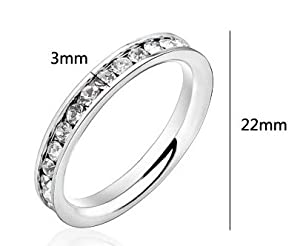 316L Stainless Steel Eternity CZ Eternity Wedding Band Ring 3mm Comes With FREE Pouch (7)
