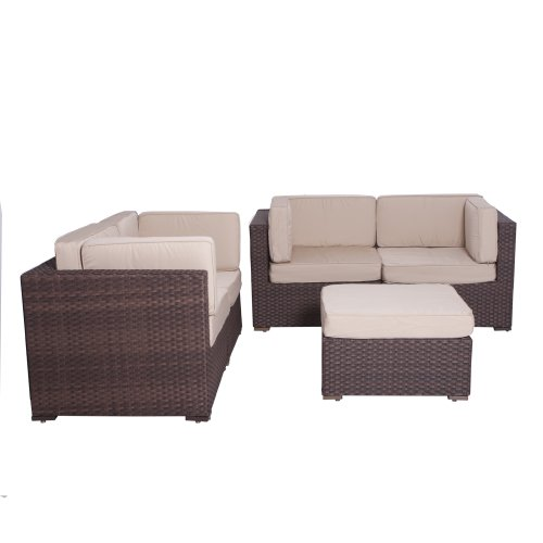 Atlantic Nice 5 Piece Conversation Set Deluxe Where To Buy on Deep Water Loveseat Dining Set