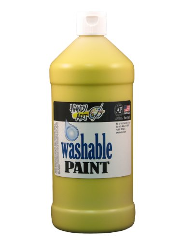 Handy Art by Rock Paint 213-010 Washable Paint, 1, Yellow, 32-Ounce