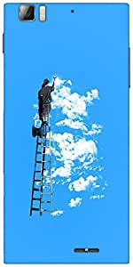 Snoogg painting the clouds 2676 Designer Protective Back Case Cover For Lenovo A6000