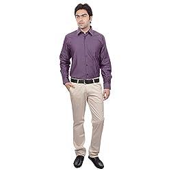 Sangam Apparels Regular Fit Purple Mens Formal Shirt