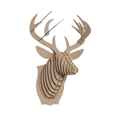 BUCKY large, cerf trophée en carton, Cardboard Safari