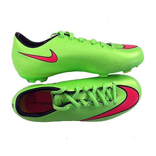Nike Jr Mercurial Victory V Fg Electric Green/Black/Volt/Hyper Punch Us Sz. 3Y Boys Soccer