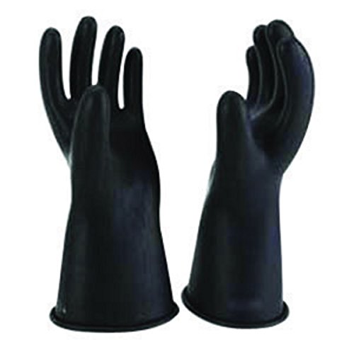 "Salisbury By Honeywell Size 8 Black 14"" Type I Natural Rubber Class 0 Low Voltage Electrical Insulating Linesmen'S Gloves"