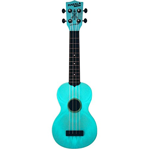 Kala Makala Waterman Glow in the Dark Aqua Blue Soprano Ukulele Aqua Blue