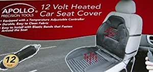 Apollo 12 Volt Heated Car Seat Cover Auto Truck Boat