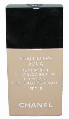 CHANEL Vitalumiere Aqua Skin Perfecting Makeup - Beige Rose 52 u/b