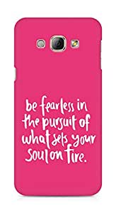 AMEZ be fearless i the pursuit Back Cover For Samsung Galaxy A8